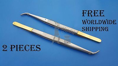 Dental Suturing Corn Forceps Pliers Implant Micro Surgery Surgical 2 Pieces