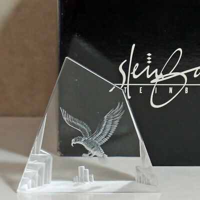 Steinbach Art Glass 3D Paperweight 'Eagle Flying', 2.75'H, No Box