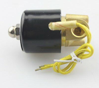 "1/4"" DC12V Electric Solenoid Valve NPT, Brass, Normally Closed for air water oil"