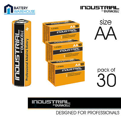 30 x Duracell Industrial AA Alkaline Battery - Pack of 30 | MN1500 LR6 15A 1.5V