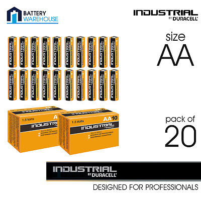 20 x Duracell Industrial AA 1.5v Alkaline Battery - Procell | MN1500 LR6 UK