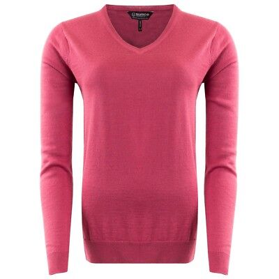New Sunice Ladies Jane V Neck Sweater Pullover Golf Top Jumper