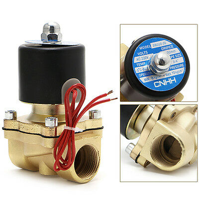 """3/4"""" AC 220V Electric Solenoid Valve Pneumatic 2Port Water Oil Air Gas 2W-200-20"""