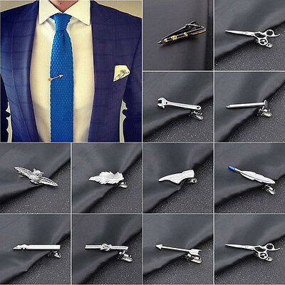 MEN METAL TIE CLIP BAR NECKTIE PIN CLASP CLAMP WEDDING CHARM CREATIVE GIFT Comfy