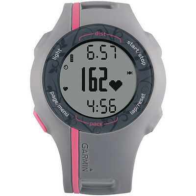 Garmin Forerunner 110W GPS enabled Sports Watch Grey Pink + Charging Cable