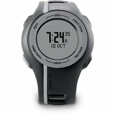 Garmin Forerunner 110 GPS enabled Sports Watch Black Grey + Charging Cable