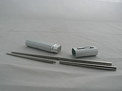 "Portable camping screw  ""silver"" Steel Metal Chopsticks Fully Personalised"