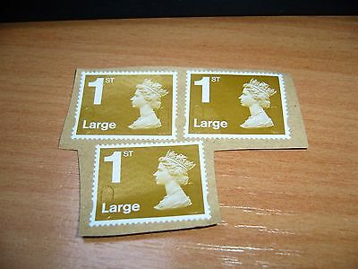 25 GB unfranked 1ST class Large letter stamps all head on paper