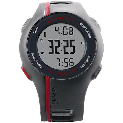Garmin Forerunner 110 GPS enabled Sports Watch Black Red + Charging Cable
