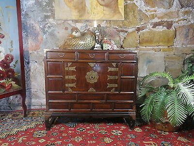 Vintage Cabinet Chest-Drawers-Japanese Tansu-Elm Wood Chest-Sideboard