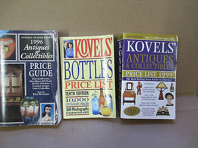 Kovel's Antiques & Collectibles price list l996,1999 & Bottles Price list lot 3
