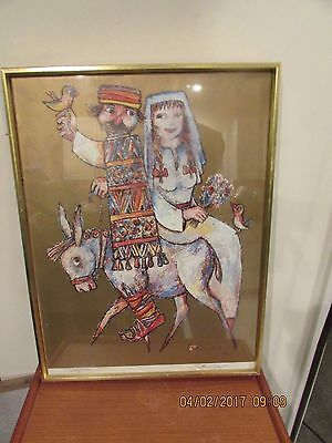 """Jovan Obican """"The WEDDING"""" Lithograph Numbered Hand Signed Framed"""