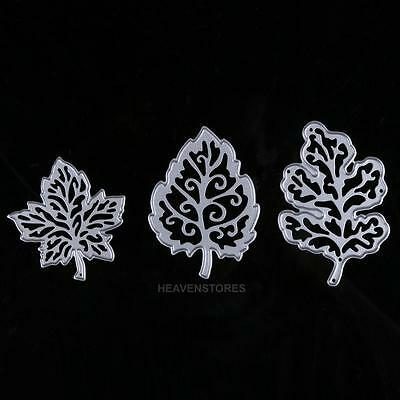 3Pcs Pretty Leaves Design High Quality Metal Cutting Dies For DIY Scrapbooking