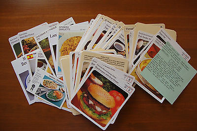 Lot of Over 80 Vintage Recipe Index Cards