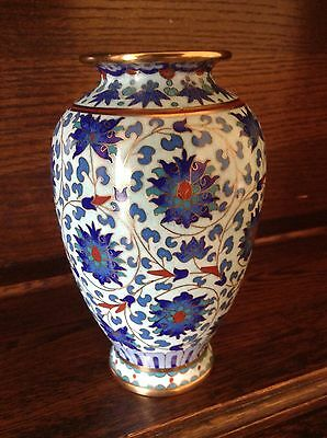 Quality Chinese cloisonne Vase Blue