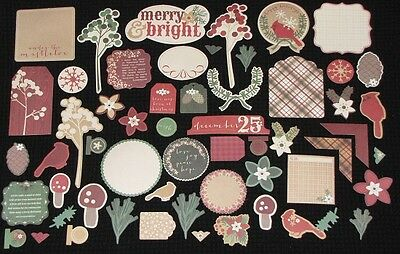 Kaisercraft 'HOLLY BRIGHT' Collectables Die Cut Shapes Xmas KAISER *DELETED*