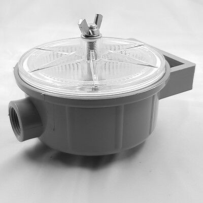 Strainer SeaLux Marine Sea Water Filter Lightweight Clear lid Easy to Clean