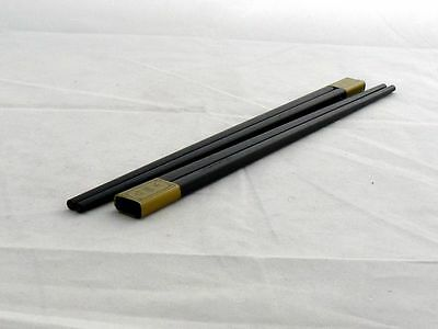 Personalised Engraved Posh Black wooden Chinese Chopsticks CH-W-BLK-01