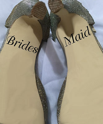 Wedding Shoe Decals - Bridesmaid