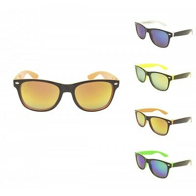 Kids Boys / Girls Two Tone Sunglasses Mirrored Lens Full UV400 - 4 to 10 Years