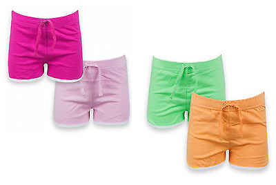 Girls 2 Pack Shorts Adams Jersey Cotton Hot Pants 2-10 Years Bnwt
