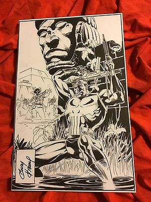 Frank Castle The Punisher Cover Art Print~Hand-Signed By Andy Kubert~