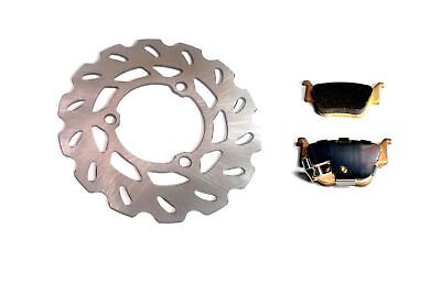 New Rear Disc Brake Rotor and Pads for Honda TRX450R / TRX450ER ATV