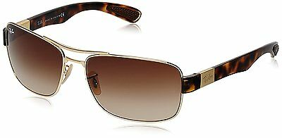 Ray-Ban RB3522 001/13 Gold/Tortoise Frame Brown Gradient 64mm Lens Sunglasses