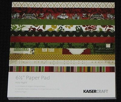 "Kaisercraft 'HOLY NIGHT' 6.5"" Paper Pad Christmas KAISER *DELETED 2 LEFT ONLY*"