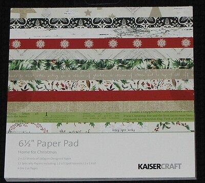 "Kaisercraft 'HOME FOR CHRISTMAS' 6.5"" Paper Pad Holly KAISER *DELETED 5 LEFT*"