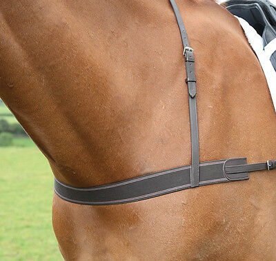 NEW Shires Horse / Pony Elasticated Breastgirth / Breastplate - Eventing, Racing