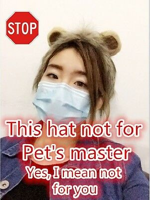 Cute Lion Wig Head Warm Hat Cat Small Dog With Ears COSPLAY Costume