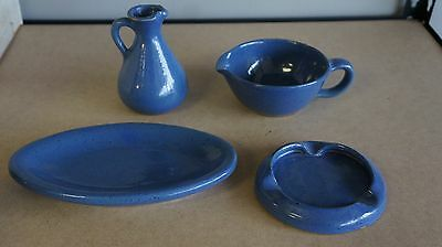 Lot Of 4 Bybee Kentucky Pottery Saucer Ashtray, Pitcher, Serving Cup