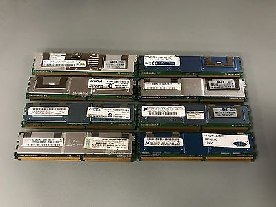 16GB - 2x 8GB PC2-5300F DDR2 667MHz ECC Fully Buffered Server RAM