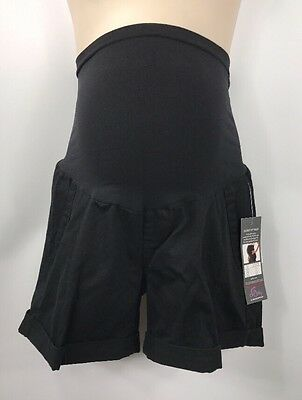 Oh Baby Motherhood Maternity Black Stretch Chino Shorts NWT size Medium