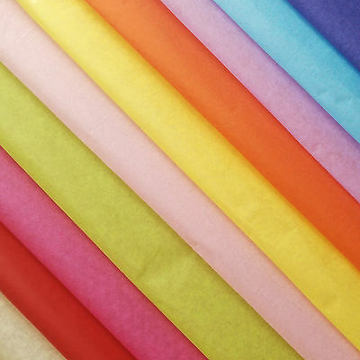 Tissue Paper Solid Colours Wrap Acid Free Flowers 5/10/25/50/100 Sheets 17gsm