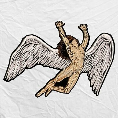 Led Zeppelin Icarus Embroidered Big Patch Fallen Angel Robert Plant Page Back