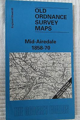 Old Ordnance Survey Map Mid - Airedale 1858 - 70