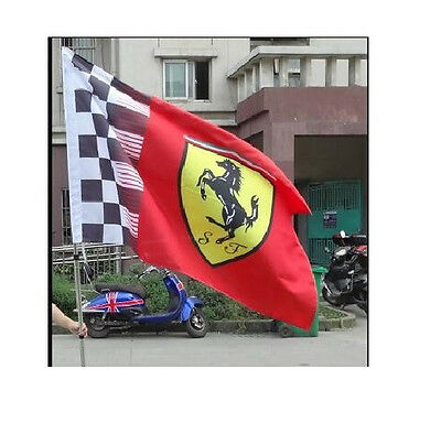 BRAND NEW Ferrari Flag F1 checkered 3ft x 5ft 90cmX150cm free shipping