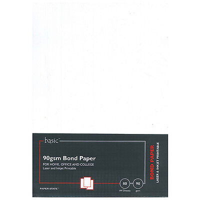 PaperState - Basic A4 Bond Paper - 90 Gsm - 80 Sheets