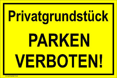 hinweisschild schild privatgrundst ck parken. Black Bedroom Furniture Sets. Home Design Ideas