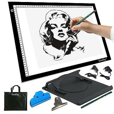 Yaufey® LED Luminosité Réglable Light Pad Table Lumineuse Tablette Dessin en...