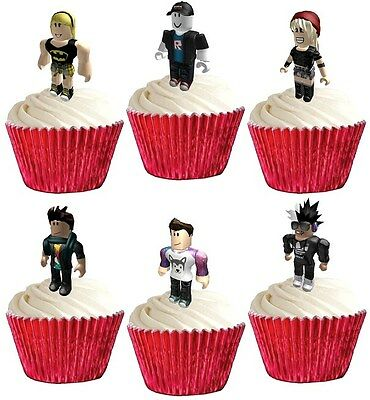 24 ROBLOX premium STAND UPS edible cake toppers decorations party