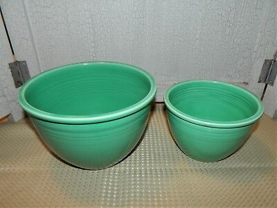 Vintage Fiesta Green #2 And #4 Nesting Bowl