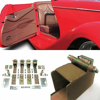 Suicide Door Hinges Hidden with Latches Strikers & Install Kit For 2 Doors