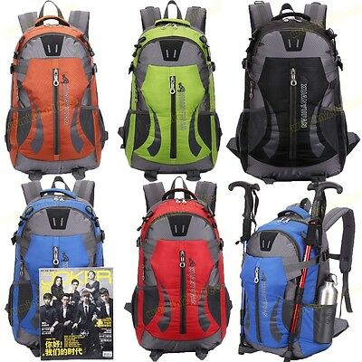 40L Waterproof Men/Women Cycle Hiking Backpack Rucksack Bike Bag Travel Camping