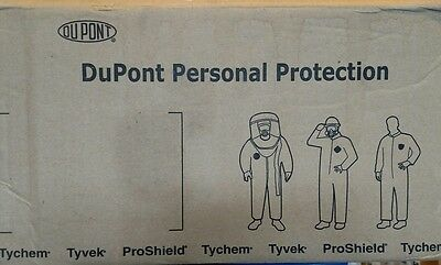 (2) DuPont Tyvek 2XL Disposable White Protective Suits -  w/ Hood