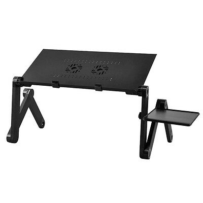 AF 360 degree Folding Adjustable Laptop Computer Notebook Glossy Table Stand Bed