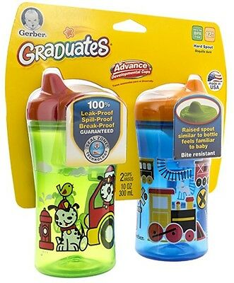 Gerber Graduates 10 Oz Advance Hard Spout Sippy Cup, 2 Pack
