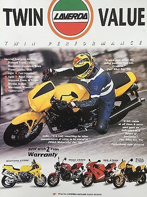 "LAVERDA 1997 RANGE # ORIGINAL 1997 MOTORCYCLE ADVERT # 12"" x 8"""
